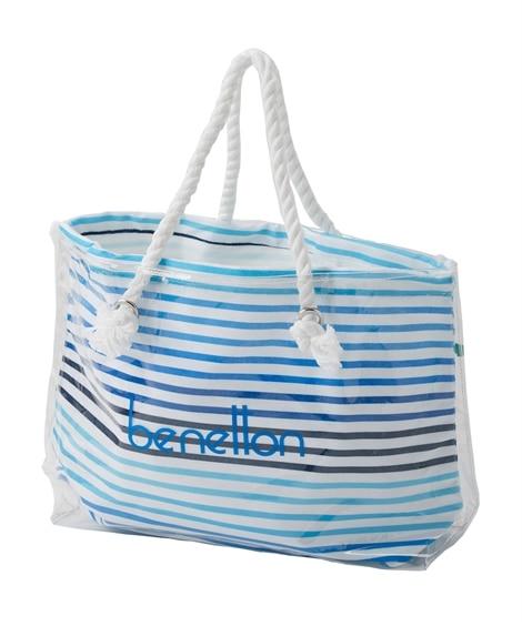 BENETTON 巾着入りPVCトートバッグ レディース水着, plus size swimsuit