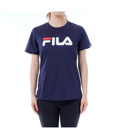 FILA 吸水速乾。UVカットロゴTシャツ 【レディーススポ...