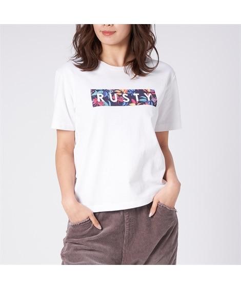 RUSTY UVカットロゴプリントTシャツ 【レディーススポ...