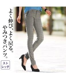 <ニッセン>すごく伸びるスキニーパンツ(股下72cm) 【レディース】画像