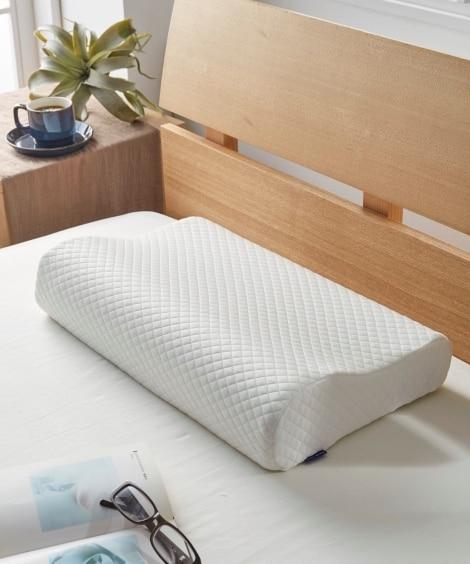 【洗える枕カバー付】頸椎サポート型 もっちり低反発枕...