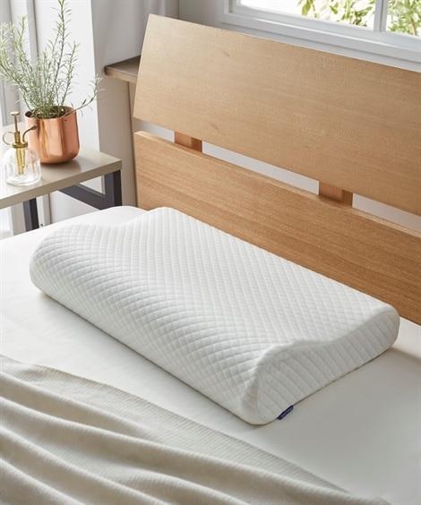 【洗える枕カバー付】頸椎サポート型 しっかり高反発枕...