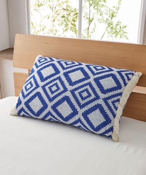 ジャガード織りのびのびタオル地枕カバー(キリム柄) 枕カバー...