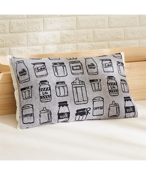 のびのび幅広ジャカード織りタオル地枕カバー(ボトル柄) 枕カバー・ピローパッド, Pillow covers(ニッセン、nissen)
