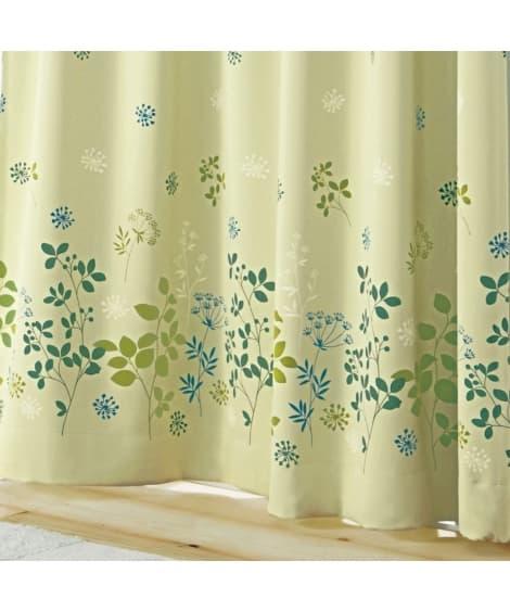 フラワー柄遮光カーテン 遮光カーテン