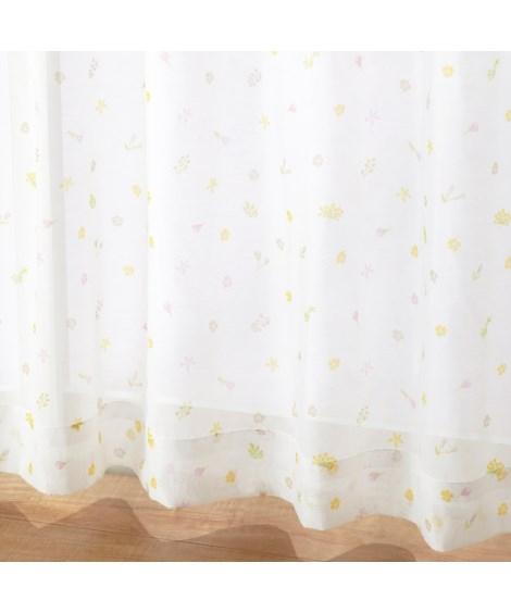 【送料無料!】フェミニンフラワー柄ボイルレースカーテン レースカーテン・ボイルカーテン