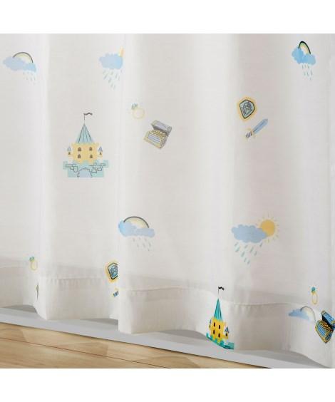 【送料無料!】人魚姫ボイルレースカーテン(おとぎのまち) レ...