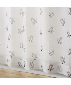 【送料無料!】長靴をはいた猫ボイルレースカーテン(おとぎのまち) レースカーテン・ボイルカーテンの商品画像