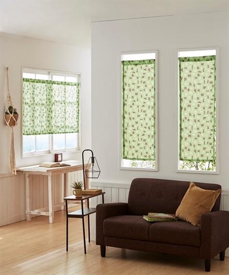 アルファベット柄。小窓用カフェカーテン のれん・カフェカーテンと題した写真