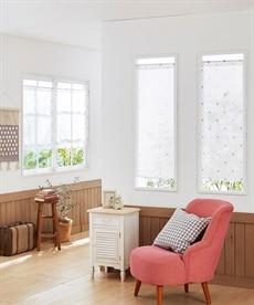 シンプルネコ柄。小窓用カフェカーテン のれん・カフェカーテンの商品画像