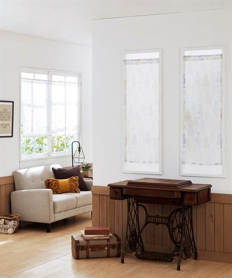 シルエットネコ柄。小窓用カフェカーテン のれん・カフェカーテンの写真