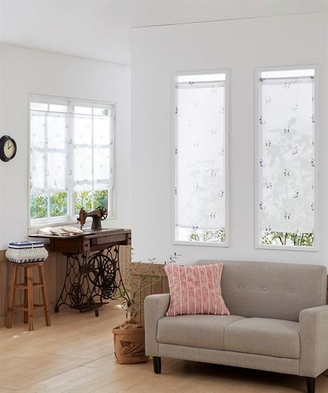 カジュアルネコ柄。小窓用カフェカーテン のれん・カフェカーテン, Curtains(ニッセン、nissen)