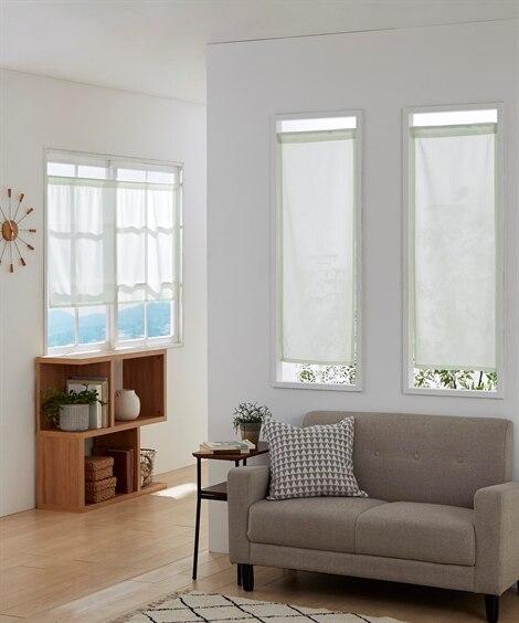 防炎。小窓用カフェカーテン のれん・カフェカーテン...