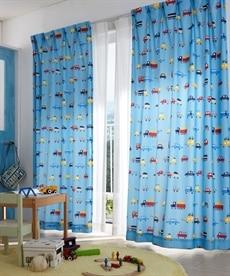 【送料無料!】クルマ柄カーテン ドレープカーテン(遮光あり・なし)の小イメージ