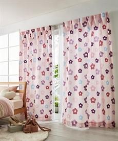 【送料無料!】花柄カーテン 遮光なしカーテンの小イメージ