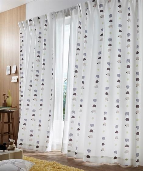 【送料無料!】癒し系動物柄カーテン 遮光なしカーテン...