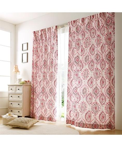 優しい質感の生地がおしゃれな手書きタッチ小花柄カーテン ドレープカーテン(遮光あり・なし) Curtains, blackout curtains, thermal curtains, Drape(ニッセン、nissen)