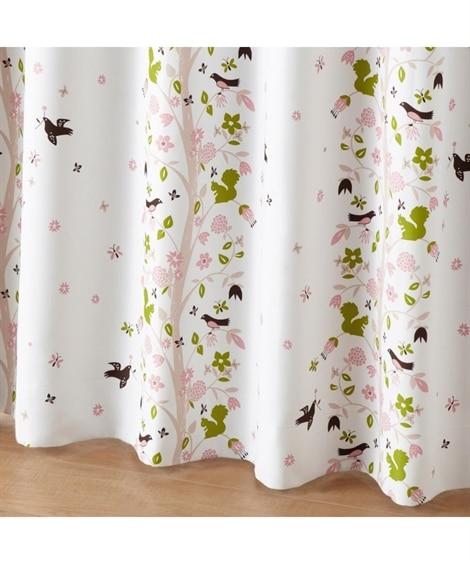 <ニッセン>【送料無料!】森の動物たちがかわいい遮光カーテン ドレープカーテン(遮光あり・なし) Curtains blackout curtains thermal curtains Drape(ニッセン、nissen)