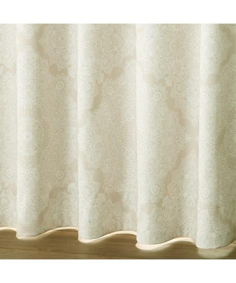【送料無料!】繊細な線描きがアンティークな雰囲気のレース柄遮熱。防音。1級遮光カーテン&遮熱。24時間見えにくい。UVカットレースセット カーテン&レースセット, Curtains, sheer curtains,