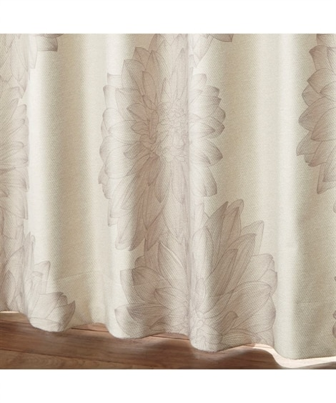 【1cm単位オーダー】アンティークな雰囲気のフラワー柄遮熱。防音。1級遮光カーテン(1枚) ドレープカーテン(遮光あり・なし) Curtains, blackout curtains, thermal curtains, Drape(ニッセン、nissen