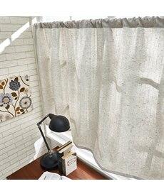 ナチュラルなストライプ柄刺しゅう。小窓用カフェカーテン のれん・カフェカーテンの商品画像