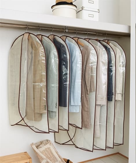 <ニッセン> 衣類のホコリよけカバー 8枚組画像