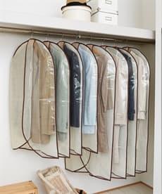 衣類のホコリよけカバー 8枚組 衣類カバー・圧縮袋の商品画像