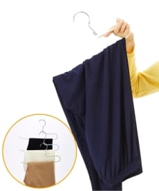 すべり落ちにくいつながるスラックスハンガー 3本組 衣類ハンガーの商品画像