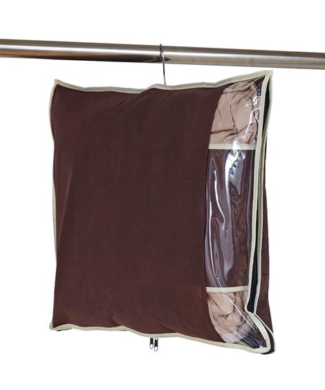 炭入り消臭ダウン収納ケース お買得2枚組 衣類カバー・圧縮袋(ニッセン、nissen)