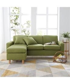 カラーが選べるオットマン付3人掛けソファー ソファーの商品画像