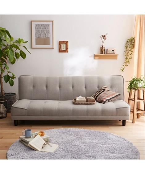 3段階リクライニングソファーベッド ソファー...