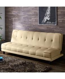 3段階リクライニング合皮ソファーベッド ソファーの商品画像