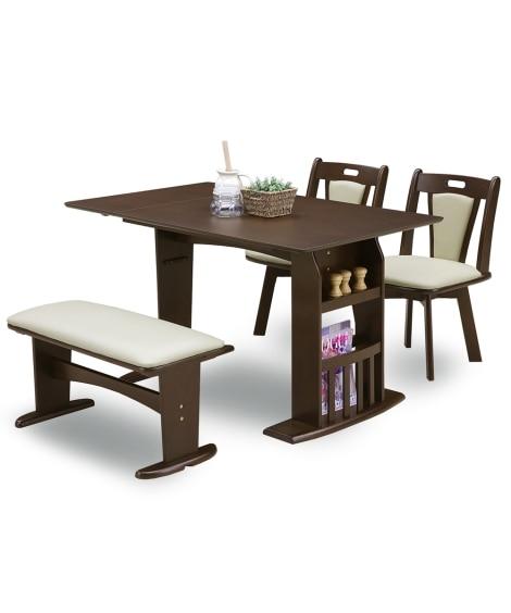 回転チェアとバタフライ天板の省スペースダイニング4点セット ダイニングテーブルセット, Tables(ニッセン、nissen)