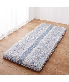 【日本製】防ダニ。抗菌防臭。フランス産羊毛混ボリューム4層敷布団 敷布団の小イメージ