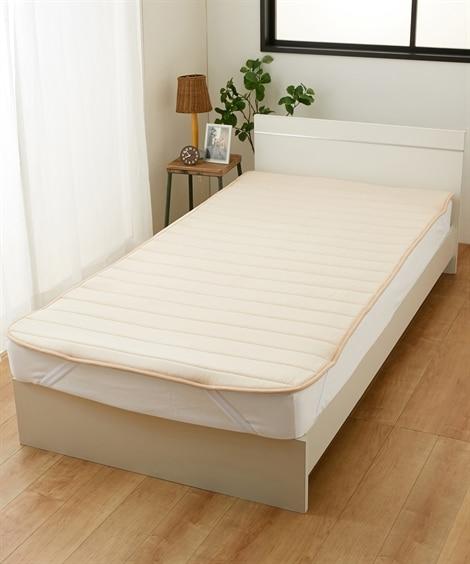 【日本製】綿100%ベッドパッド(通気性と体圧分散性を重視した(V−LAP(R)使用)・7サイズから選べる) 敷きパッド・敷パッド, ベッドパッド, Bed pats(ニッセン、nissen)