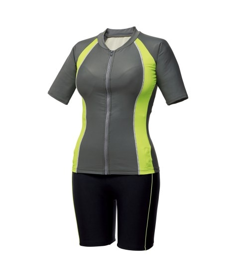 Shape Body袖付フィットネス補整水着2点セット(ゆったりバスト) フィットネス水着(競泳用水着)