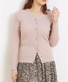 <ニッセン> レーストリミングリブ編ニットカーディガン (ニット・セーター)(レディース)Knitting 1