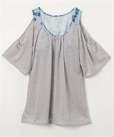 <ニッセン> ツインニット(ビジュー付カーディガン+半袖セーター) (ニット・セーター)(レディース)Knitting 2