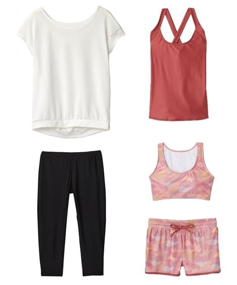 【citta room】水陸両用ブラ&タンク付ウェア5点セット ヨガウェア, Yoga, Yoga wears