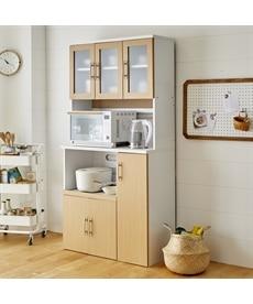 収納力にあふれるキッチンボード レンジボード・家電ラックの商品画像