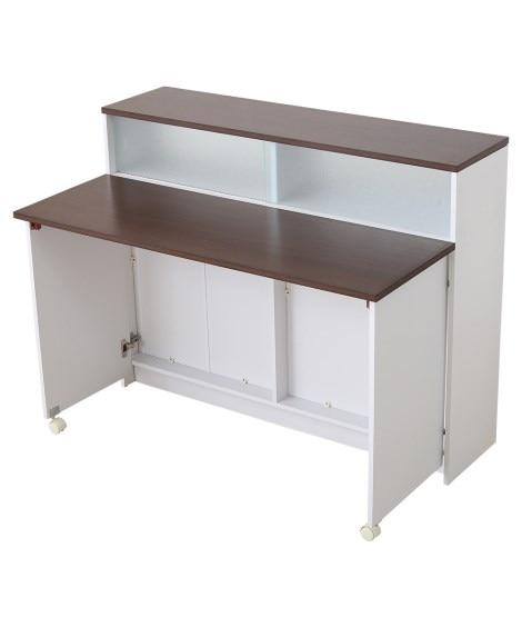 間仕切りキッチンカウンター 食器棚