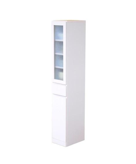 シンプルで収納力に優れたスリム食器棚 食器棚