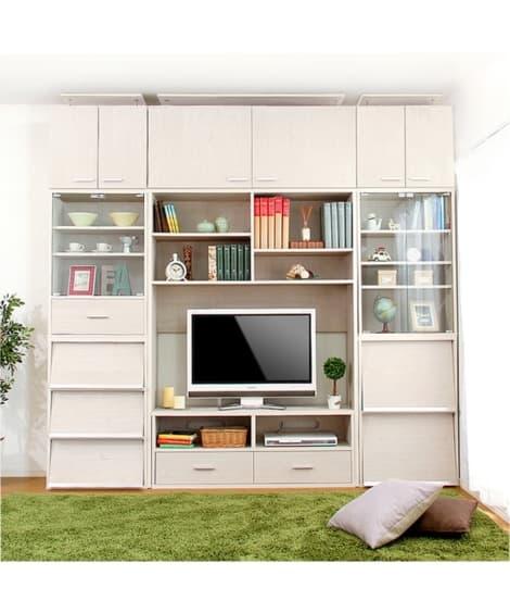 組み合わせ自由自在の壁面収納家具 テレビ台...
