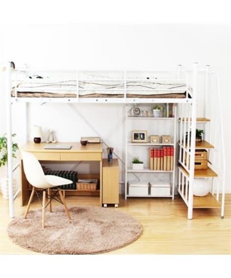 高さ2段階調整できる階段付きロフトベッド ロフトベッド・2段ベッド, Beds(ニッセン、nissen)