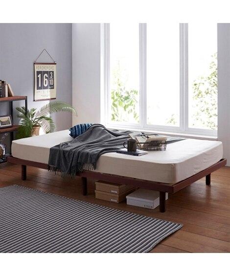 高さが変えられる天然木パイン材すのこベッド すのこベッド・畳...