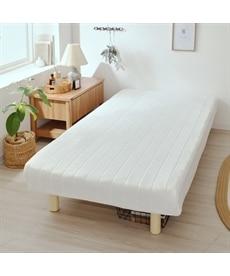 脚付ボンネルコイルマットレスベッド 脚付きマットレスベッドの商品画像