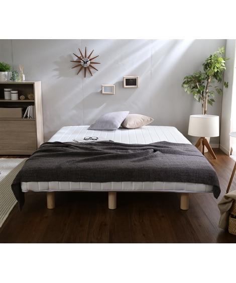 脚付ポケットコイルマットレスベッド 脚付きマットレスベッド...