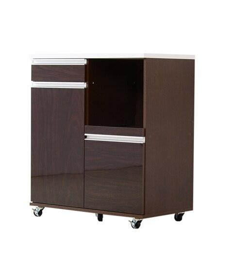 キャスター付き鏡面仕上げレンジ台 食器棚, Cupboard...