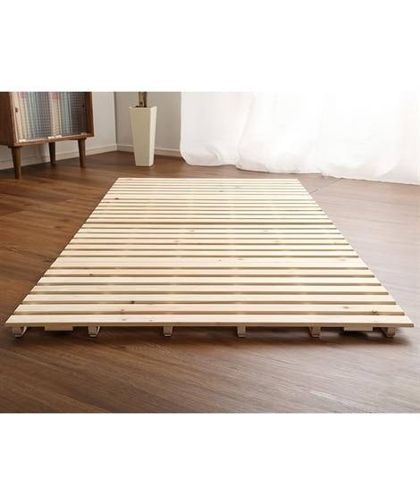 ひのきすのこベッド(二つ折り式) すのこベッド・畳ベッド