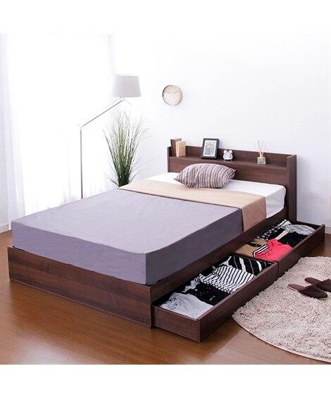 棚。コンセント付き収納ベッド 収納付きベッド, 収納ベッド,...
